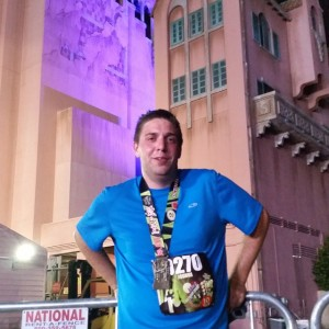 After finishing the Tower of Terror 10-Miler in October 2014!
